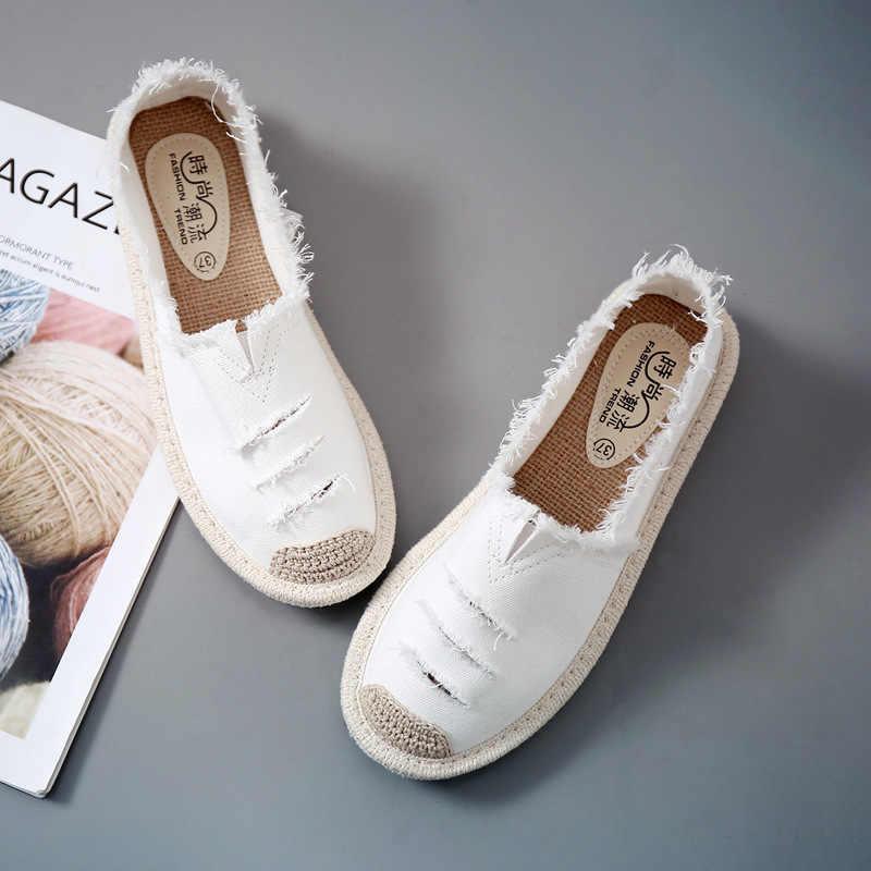 Vrouwen Flats Schoenen Slip Op Casual Dames Canvas Schoenen Lui Loafers Ademend Vrouwelijke Espadrilles 2018 Lente Herfst Schoenen nieuwe