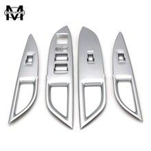 Montford для Mitsubishi Outlander 2013-2017 ABS матовые окна лифт переключатель подлокотника планки 4 шт. только для левого рукой для вождения