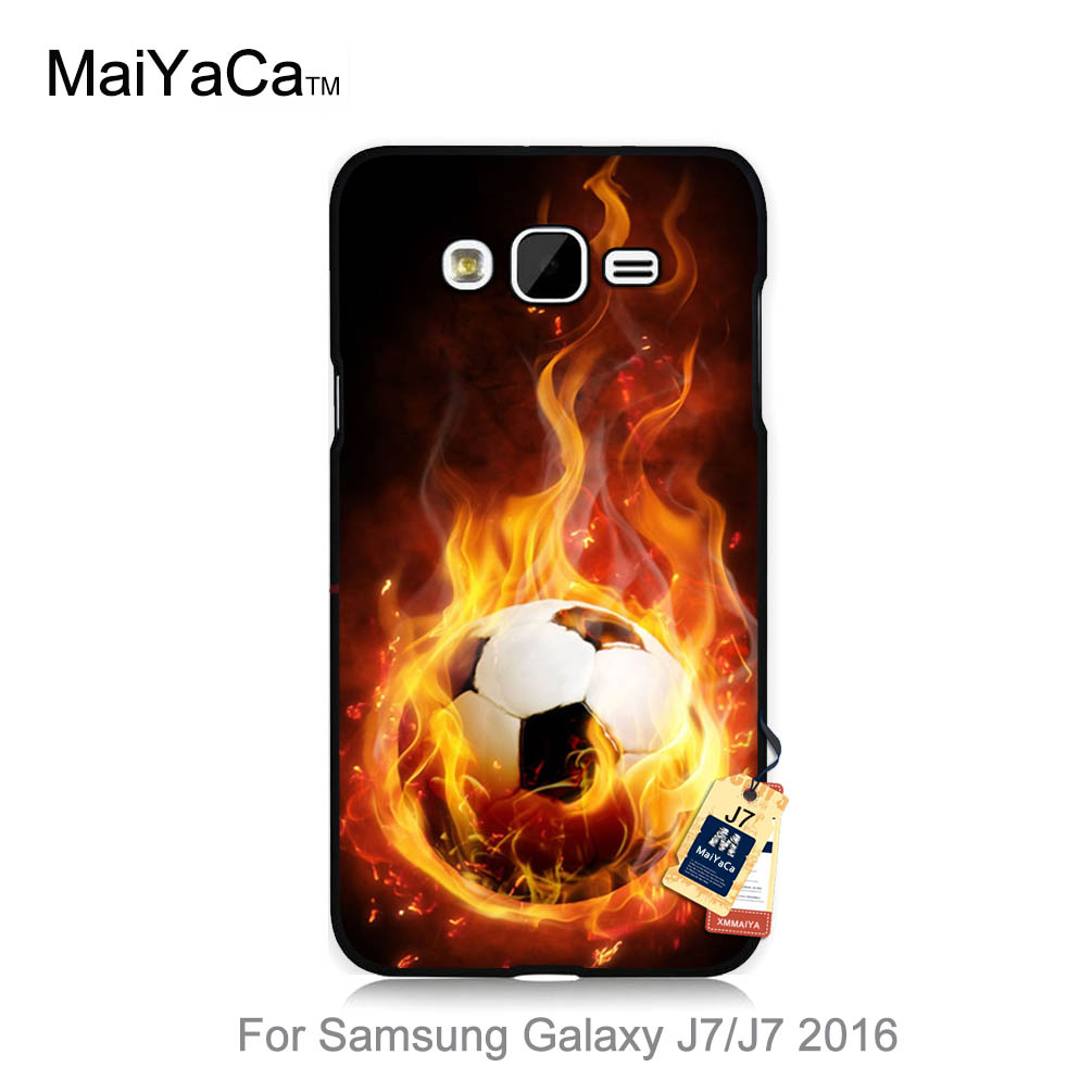 Cute phone Accessories For case J7 2015 Hunger Games Quotes fire football