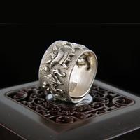 Antiken sterling silber ring yinfeng volumen 999 feinsilber ringe und retro antike handwerk ringöffnung special bieten