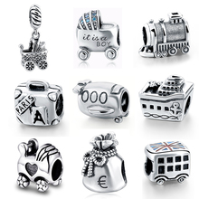Fit Authentic pandora Bracelet 925 Sterling Silver Charms Original DIY Vehicle Toys Antique Beads Pendant Jewelry for Boy Gifts