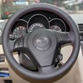 Black Artificial Leather DIY Hand-stitched Steering Wheel Cover for Old Mazda 3 Mazda 5 Mazda 6 Pentium B70