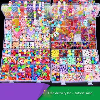 1 Набор 24 слота около 550 шт Детские творческие игрушки смешанные цвета распорка бусины с коробкой для Детский Набор для творчества ручная ра... >> Baby toys paradise