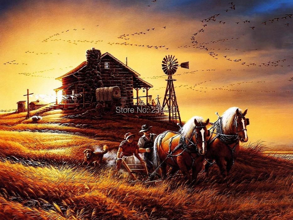 Popular Harvest Oil Painting-Buy Cheap Harvest Oil ...