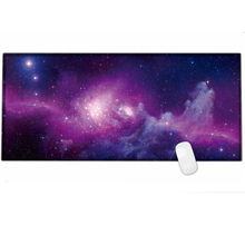 2018new Large Gaming Mouse pad 900×400 with The Milky Way galaxy & world map print & edge locking