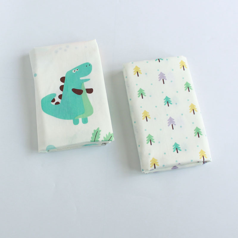2 pcs/pack Newborn baby cotton cartoon bed linen cotton bed sheet crib flat sheet 90*150cm image