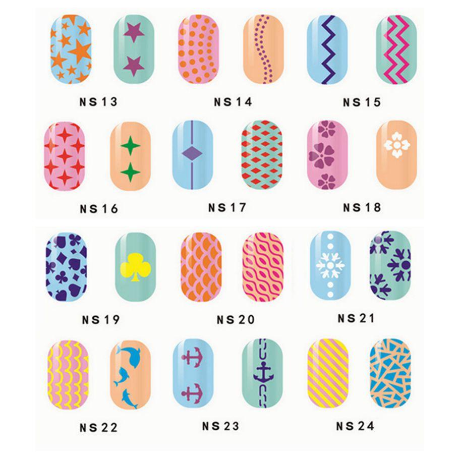 Bien-aimé 1 Pcs Imprimer Nail Art Autocollant DIY Pochoir Autocollants Pour  WV03