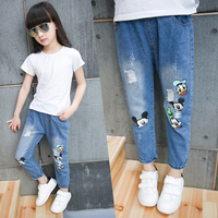 Children S Clothing Girls Jeans Baby Spring And Autumn Loose Long Pants Female Children Summer Thin