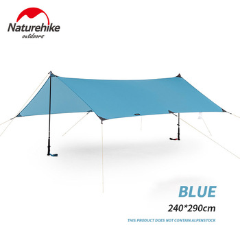 Naturehike 2019 New Outdoor Sun Shelter Multi-person Camping Sunshade Ultralight Portable Shelter Waterproof Beach NH19T001-M