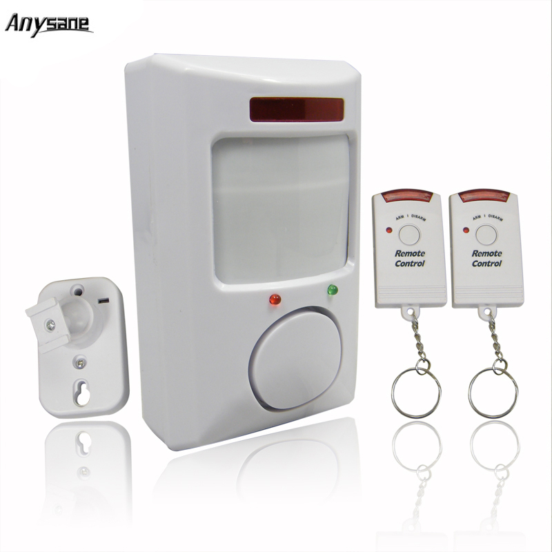 Wireless PIR remote control alarm Infrared Motion Sensor Detector Remote Controller Door Window Anti-Theft Home Alarm Security yobangsecurity wireles home gsm security alarm system metal remote control door window sensor pir motion detector wired siren
