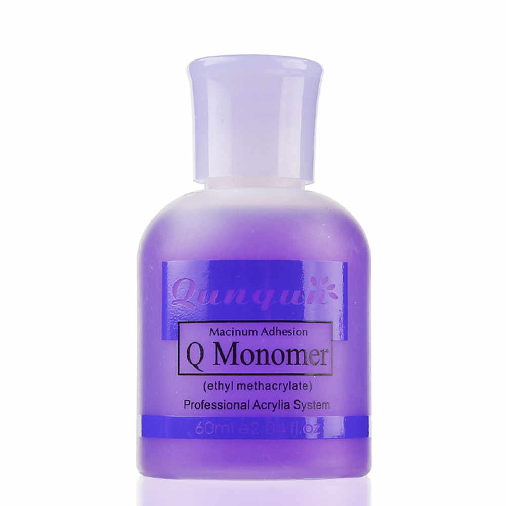 60 мл QUNQUN Профессиональный лак для ногтей Q Monomer Акриловая жидкость для ногтей кристаллическая жидкость Быстросохнущий лак для ногтей праймер Prep Monomero