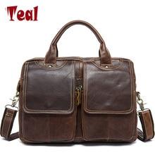 2017 nova iz pravega usnja moška torba aktovko modna poslovna moška torba nahrbtnik Messenger moška torbica ramena torba oblikovalec