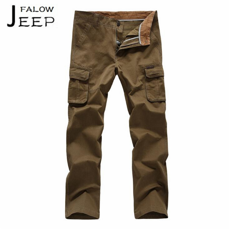 Falow JI PU Wholesale Man High Quality Workers Field Working pockets Pant,Full Length Male bolso pantalones,military bottoms