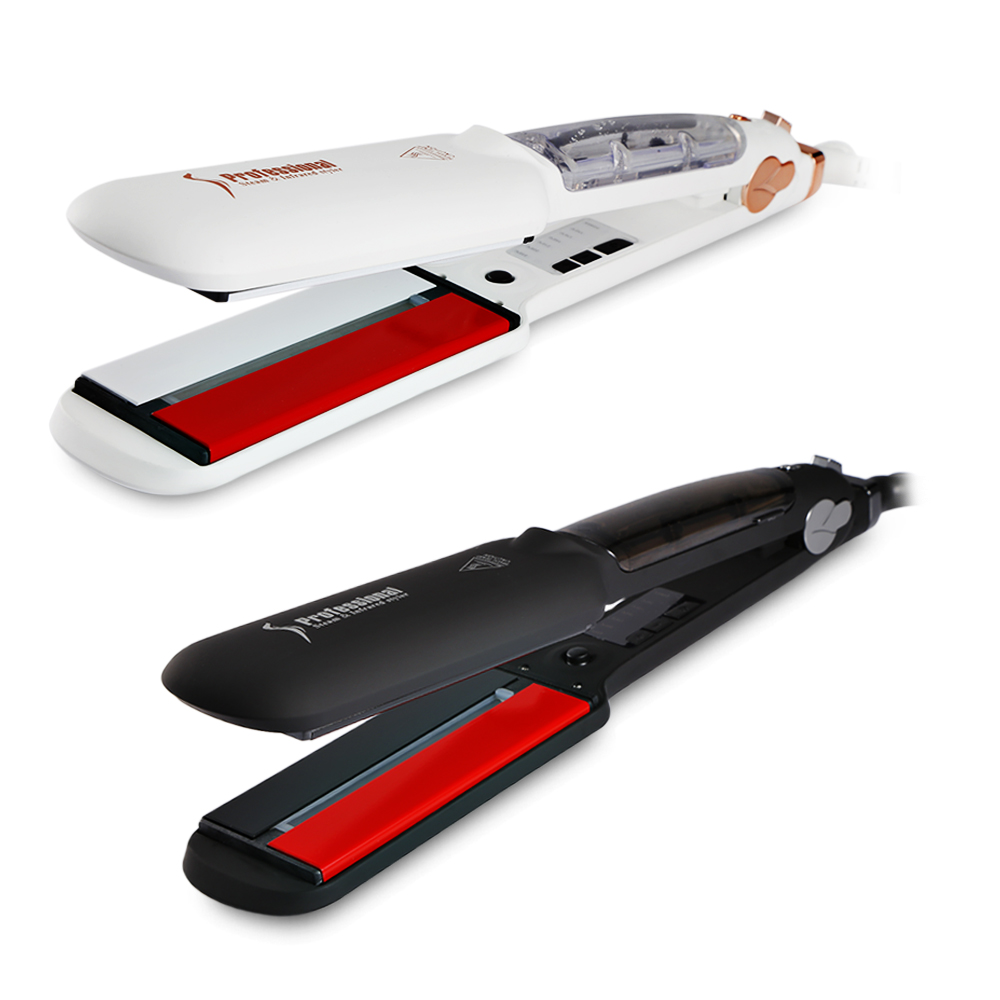 Steam Electric Hair Straightener Curler Spray Infrared flat Ionic Wet Dry use Styling Tool Pro Fast Heating Straightening Irons professional electric hair straightener plat iron anion steaming dry wet use hair straightner curler styling tool