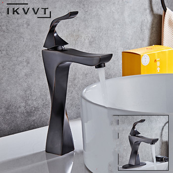 New Black Taps Cold and Hot Water Sink Tapbrass Bathroom Faucet Basic Faucets Mixer for Washbasin Torneira Grifo Lavabo