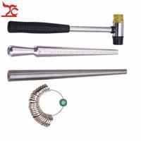 4Pcs/Lot US Size Ring Enlarger Stick Sizer Stainless Steel Mandrel Hammers Ring Sizer Finger Ring Guage Measuring Stick