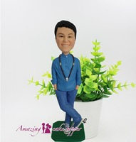 2019 AMAZING CAKE TOPPER Buddha boy, sunshine smile Toys Custom Polymer Clay Figure From Pictures