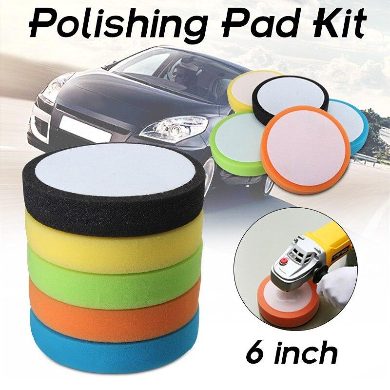 Auto Car Polisher 6 Inch 150mm Soft Flat Sponge Polishing Pad Kit Differ Colors