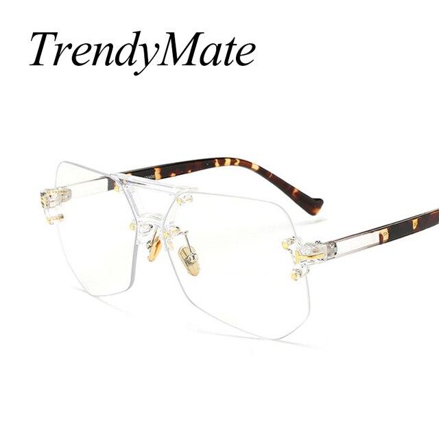 949aee7cf5 Marque de mode Designer Carré Lunettes de Soleil Femmes Grand Cadre Intégré  lunettes de Soleil Hommes