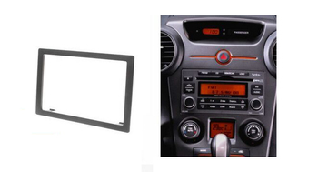 Panel estéreo de doble Din para KIA Carens 2006-2012 Rondo 2007-2012 Fascia Radio DVD montaje de tablero kit de Marco facial