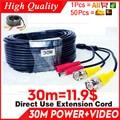 Großhandel 30m Video + power kabel HD kupfer Kamera verlängern Drähte für CCTV DVR AHD erweiterung mit BNC + DC 2in1 zwei in Kabel