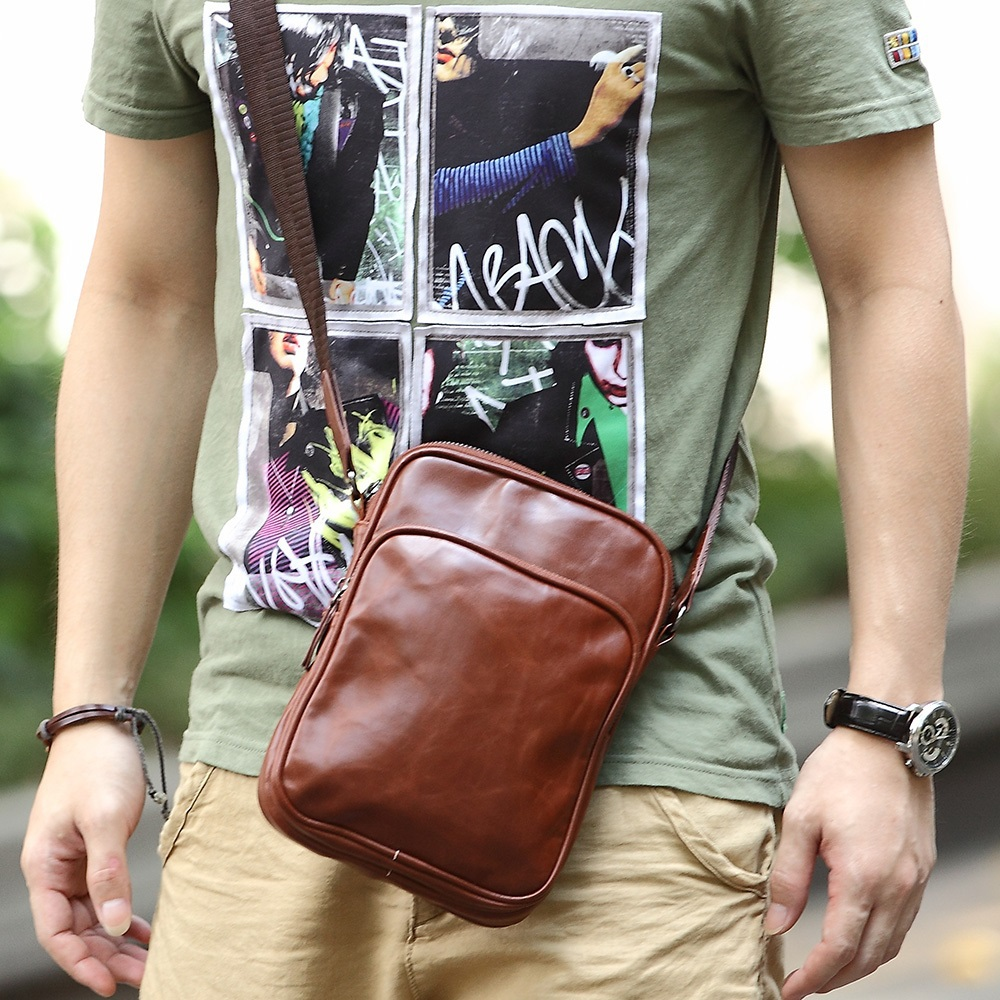 f40a90f8d05 Hot Selling Ourdoor Men Bag men messenger bags small pu one shoulder bags  male cross body soft leather men s bag-in Crossbody Bags from Luggage   Bags  on ...