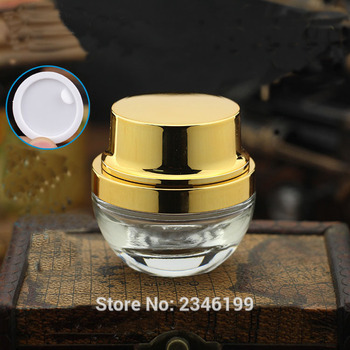 20g High-Grade Transparent Cream Bottle With Silver Circle Or Gold Circle Empty  Cosmetics Packaging Containar 20Pcs/Lot