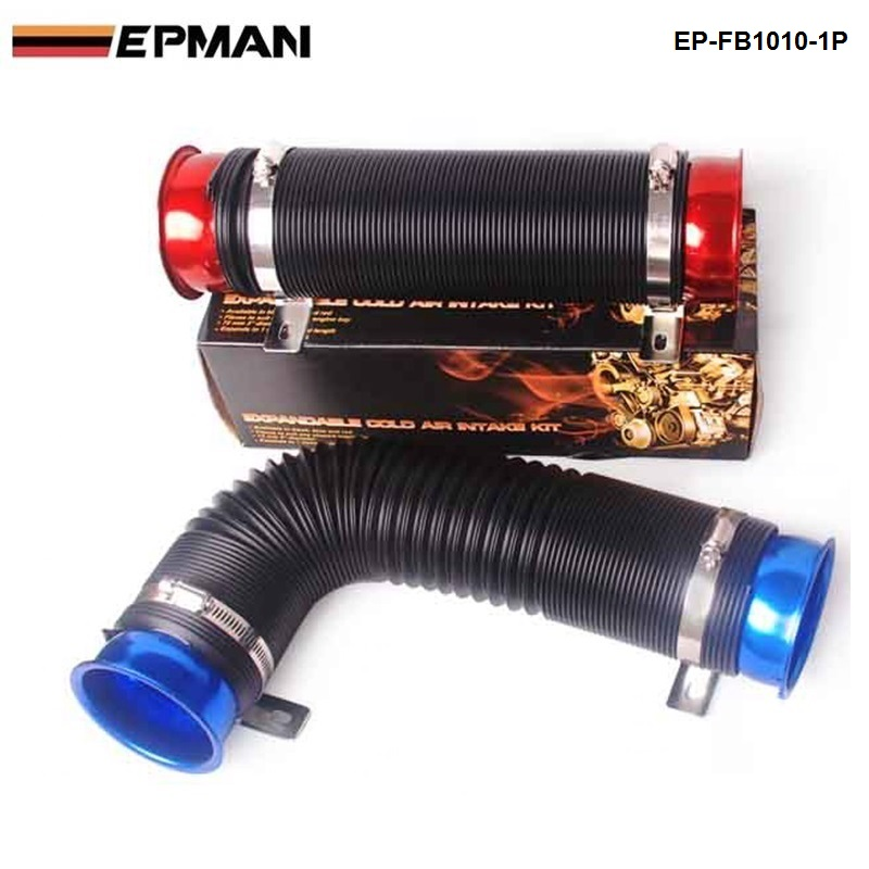 """Flexible Cold Air Intake Duct Pipe Induction Ducting Hose 100mm 4/"""" 2 Meter"""