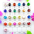 Glass Crystal silver claw 7 sizes colors mix Rivoli round shape Sew on rhinestone beads garment shoes accessories diy decoration
