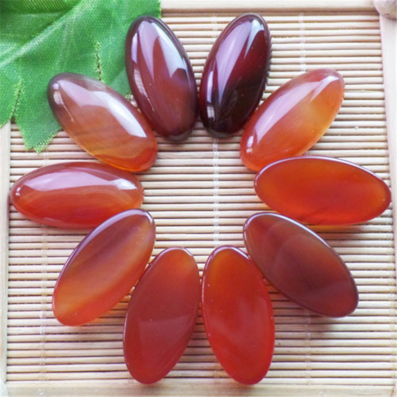 (10 pieces/lot) Wholesale Natural Red Agates CAB CABOCHON 30x15x6mm Free Shipping Fashion Jewelry ZY3380
