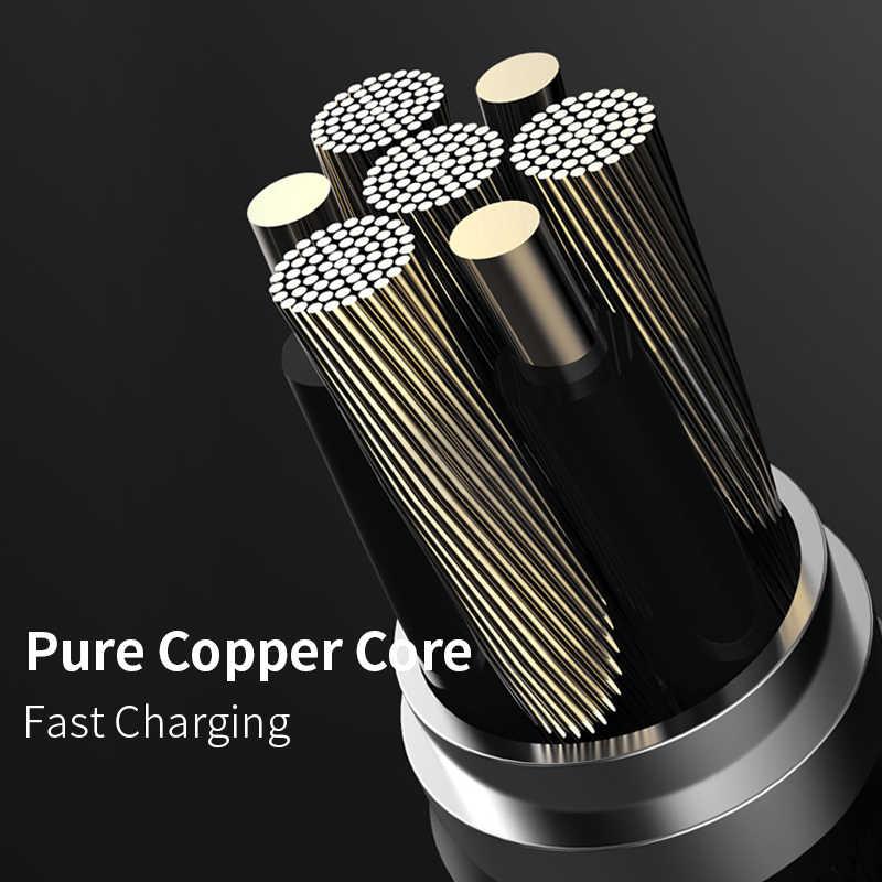 Power4 3in1 كابل يو اس بي شحن سريع شاحن مايكرو ل البرق USB نوع C العالمي كابلات الهاتف المحمول آيفون سامسونج الحبل