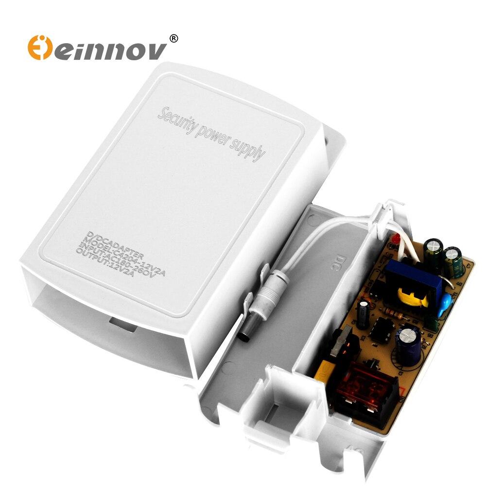 Einnov DC 12 V 2A impermeable al aire libre cámara de seguridad CCTV adaptador de fuente de alimentación de vigilancia de seguridad de entrada AC180V-AC260V ip Cam