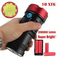 18000Lumen 10x XML T6 LED Flashlight Torch Tactical Hunting Work Lamp Free Shipping #NO13