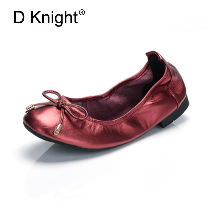 Women Ballet Flats Shoes Genuine Leather Slip on ladies Shallow Moccasins Casual Shoes Female Summer Loafer Shoes Women Big Size summer women ballet flats genuine leather shoes ladies soft non slip casual shoes flower slip on loafers moccasins zapatos mujer
