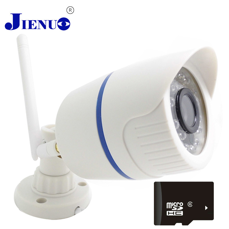 720P IP Camera with Wireless Bullet WIFI Cameras Outdoor waterproof Surveillance Security system Infrared SD card support JIENU wanscam hot sale model 720p hd outdoor waterproof ip camera bullet camera with 1megapixel support sd card recording