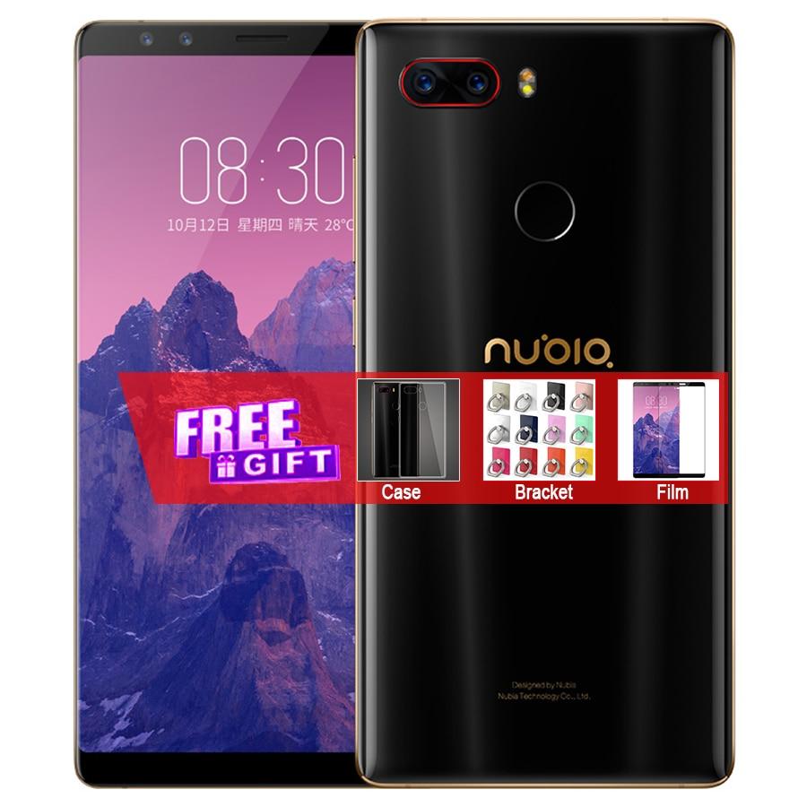 Inernational Firmware ZTE Nubia Z17S Mobile Téléphone 128/64 gb 5.73 Snapdragon 835 Octa Core Double Avant Arrière caméras 23MP NFC Téléphone