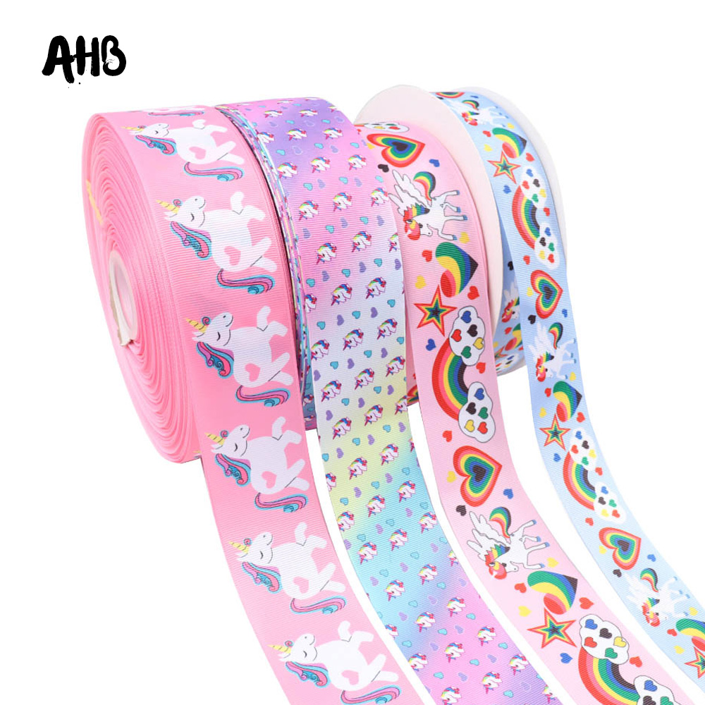 Cat Printed Grosgrain Ribbon Cartoon Ribbons Cloth Tape Hair Accessories Crafts