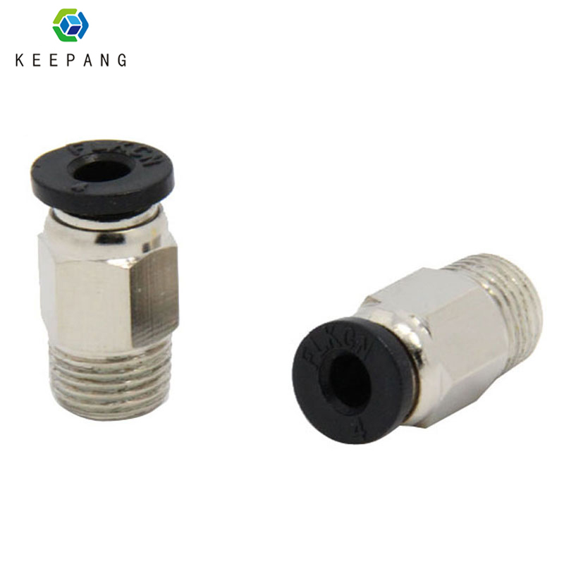 Kee Pang 3D Printer V6 J-head Pneumatic Connectors PC4-01 1.75mm PTFE Tube Quick Coupler J-head Fittings Hotend 3D Printer Part 3 d printer accessories nozzle tube fittings peek j head accessories high temperature radiator pipe free shipping