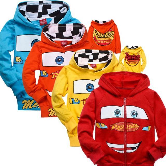 2015 Crianças Novas Camisolas Dos Carros Pixar Camisola Meninos Jaqueta Primavera Outono Casaco de Manga Longa Crianças Outwear Roupas de Bebê Casuais