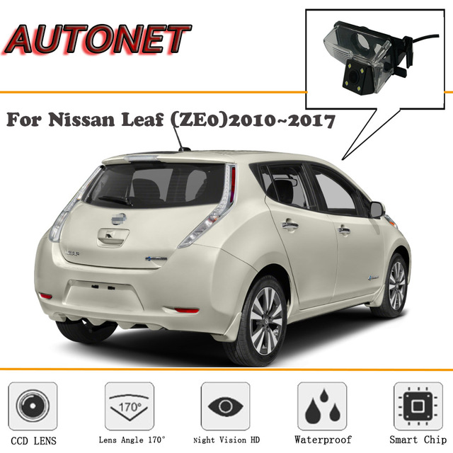 Autonet Rear View Camera For Nissan Leaf Ze0 2010 2017 Ccd Night Vision Reverse Backup License Plate