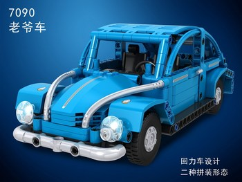 Winner 7090 Techinc Series The Volkswagen Beetle City Car Modle Education Building Blocks Brick Birthday Gifts Toy For Children image