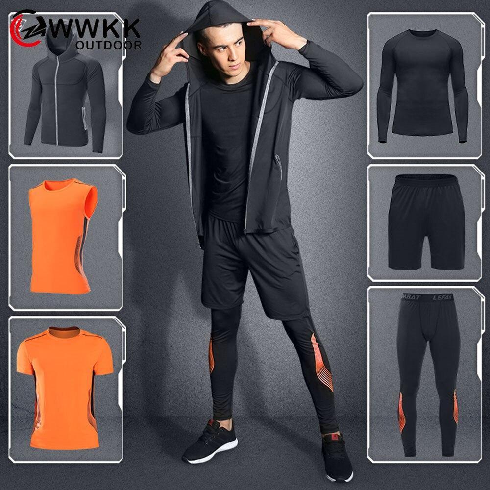 <+>  WWKK Мужские шорты для йоги + пальто с капюшоном + футболка + жилет + футболка с длинным рукавом + б ★