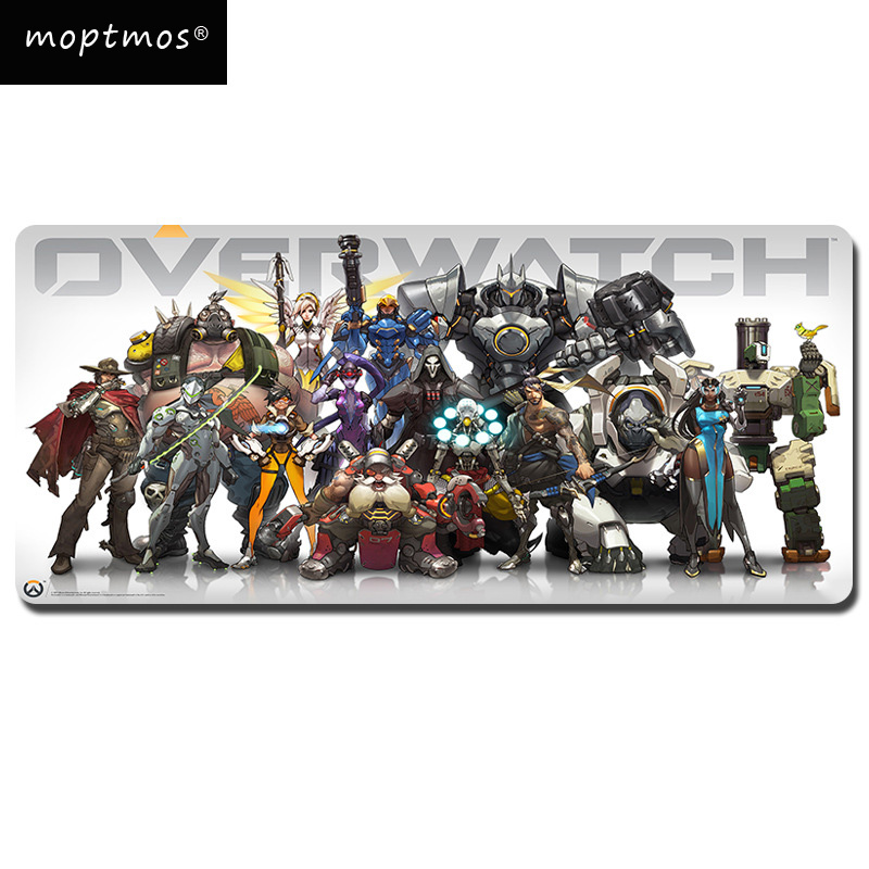 Overwatch Extended Gaming Mouse Pad-Rubber Base With Anti-Fray Cloth Speed Soft Gamer Mouse Pad Large Size 700*300mm