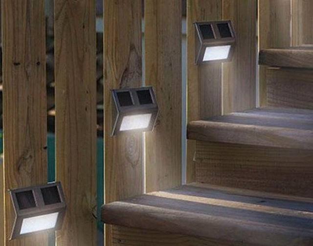 Solar power outdoor led stair light lamps modern wall foot light solar power outdoor led stair light lamps modern wall foot light steps ladder stairway lamp corridor mozeypictures Gallery