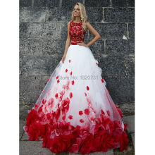 Cianlsria Puffy Red Quinceanera Dresses Gowns 2019