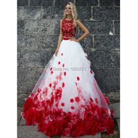 Puffy Red Quinceanera Dresses Gowns 2019 Appliques Crystals Zipper Sweet 16 Princess Dresses Vestido de debutantes e 15 anos