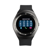 Yuntab black Y1 SmartWatch Support SIM Card with Activity Tracking Pedometer Sleep Monitor Remote Camera for Smartphone