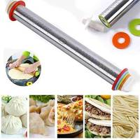 Adjustable thickness scale stainless steel rolling pin kneading tool