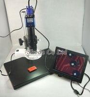 業界顕微鏡カメラセット2mp vga顕微鏡カマー+ 180x cマウントレンズ+大きなテーブルスタンド+ ledライト+ 8