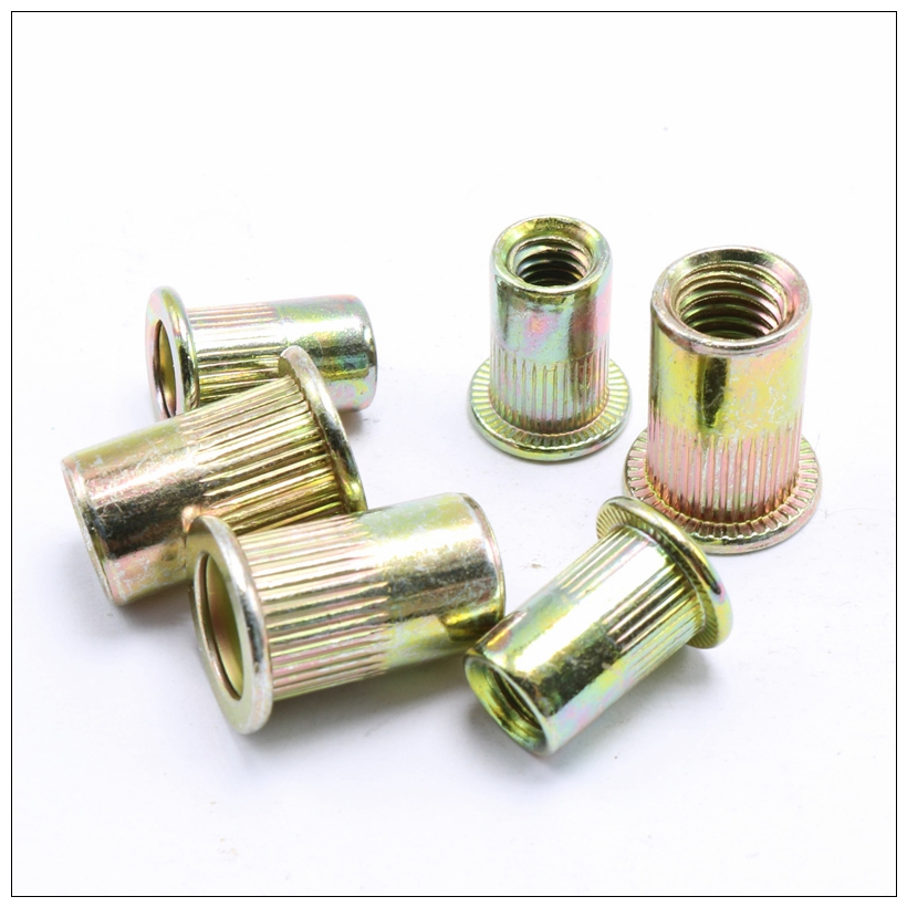 Riveter Nut 300PCS M3 M4 M5 M6 M8 M10 Head Rivet Nuts Set Nuts Insert Reveting Multi Size Rivet Nuts Collocation